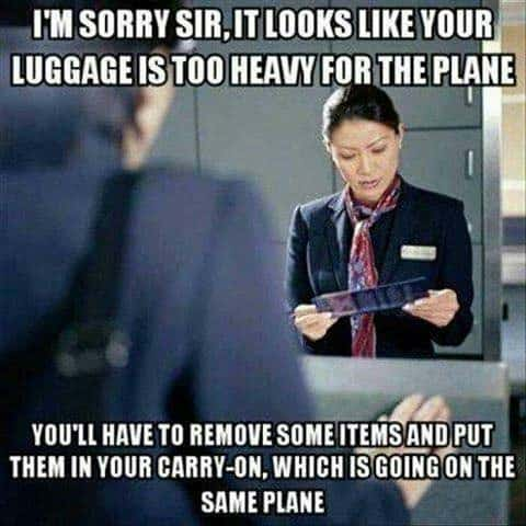 LUGGAGE ISSUES WITH THE FLIGHT MEME